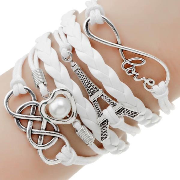 2014-nouveau-mode-bijoux-infini-double-en-cuir-multicouche-Charm-bracelet-usine-prix-pour-femme-bijoux